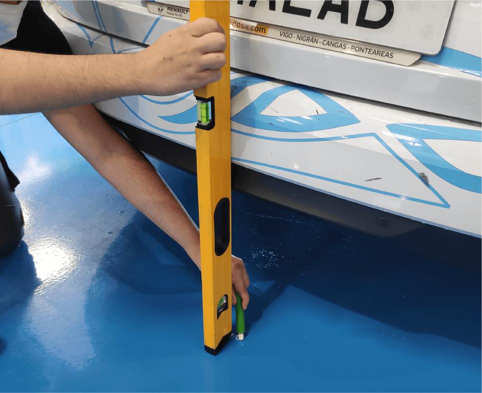 Medir largo del coche